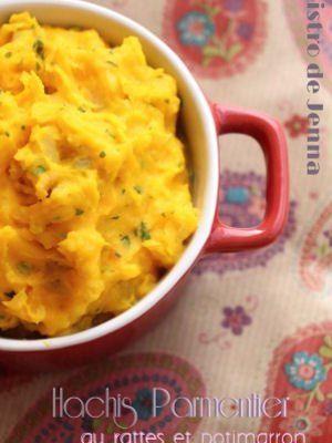 Hachis parmentier aux pommes de terre rattes et potimarron  Un hachis parmentier minceur, c'est possible. La preuve avec cette recette, certes rassasiante, mais pas trop grasse. A déguster de préférence au moment du déjeuner.