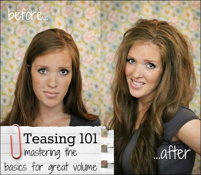 Teasing 101 for Quick and Easy Volume...: Hair Tutorials, Easy Volume, Teased 101, Fine Hair, Big Hair, Hair Style, Freckles Foxes, Hair Looks, Teas 101