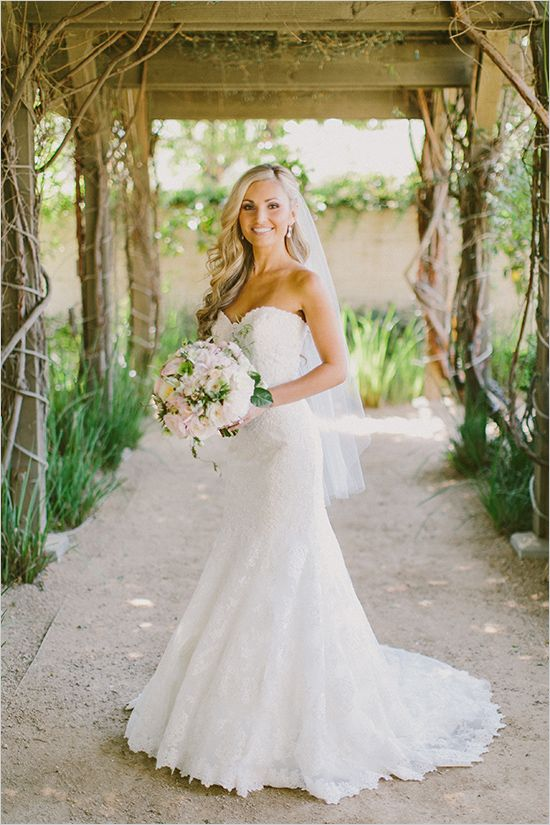 white strapless wedding gown @weddingchicks