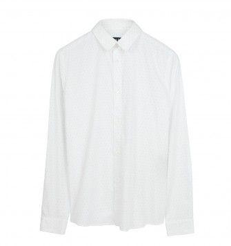ACNE STUDIOS 'FINE DOT' SHIRT. White. £129.00