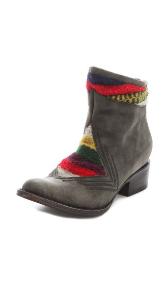absolute lusting for these FREEBIRD by Steven Aztek Colorblock Booties