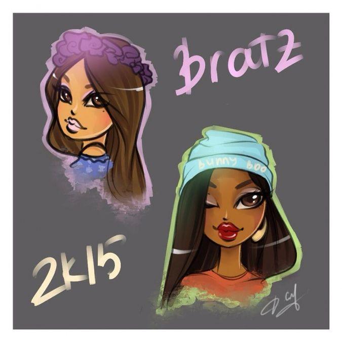 Первые рисунки в честь возвращения Братц - YouLoveIt.ru