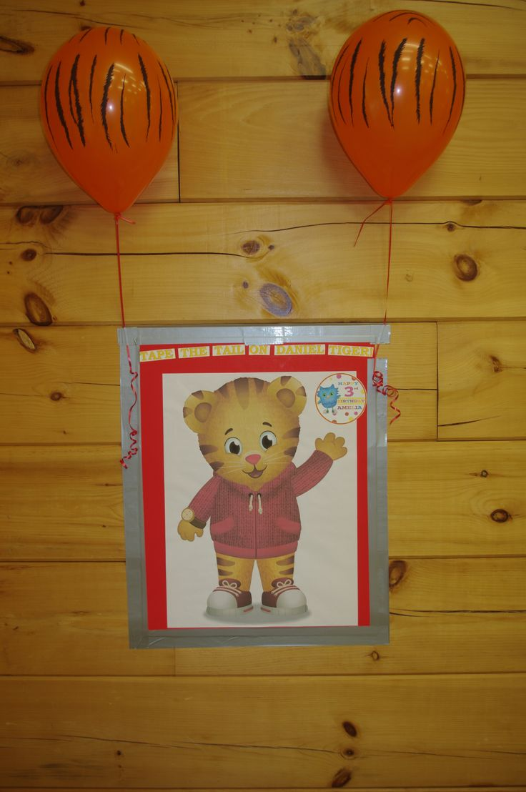 Pin the tail on Daniel Tiger for Daniel Tiger's Neighborhood Party