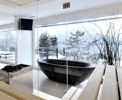 EGZOTYCZNE WANNY / black bathtub - czarna wanna