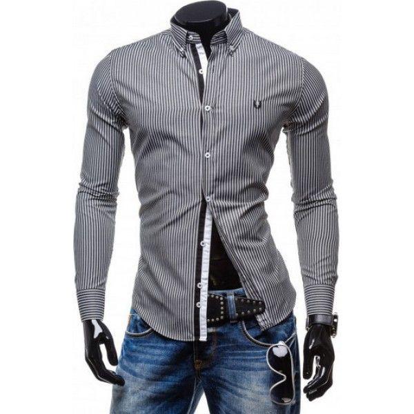 Jemná pásikavá pánska košeľa