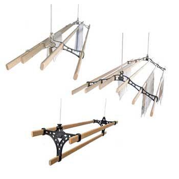 Etendoirs de plafond AIRAVIE en bois Support en fonte, laiton ou chromé  Keyla (5 à 4 lattes), Leto (7 ou 5), Berdi (3), Aria (4)  Entre 113 et 198€  http://www.ravvie.fr/etendoirs-en-bois.html  http://www.etendoir-plafond.com/index.php/etendoir-suspendu-en-bois  http://sechoir-linge.com/index.php/etendoir-en-bois  http://www.monetendoir.fr/etendoirs-de-plafond/en-bois.html  http://www.etendoir-plafond-bois.fr/  http://www.lionshome.fr/accessoires-etendoir/cdgf/