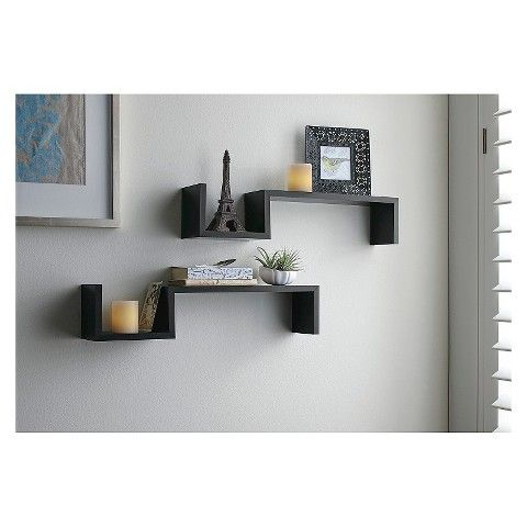 Target Floating Shelves Magnificent 14 Best Wall Shelves Images On Pinterest  Wall Mounted Shelves