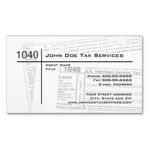 16 best accountant tax preparer most popular business cards images tax preparer federal tax form business card reheart Choice Image
