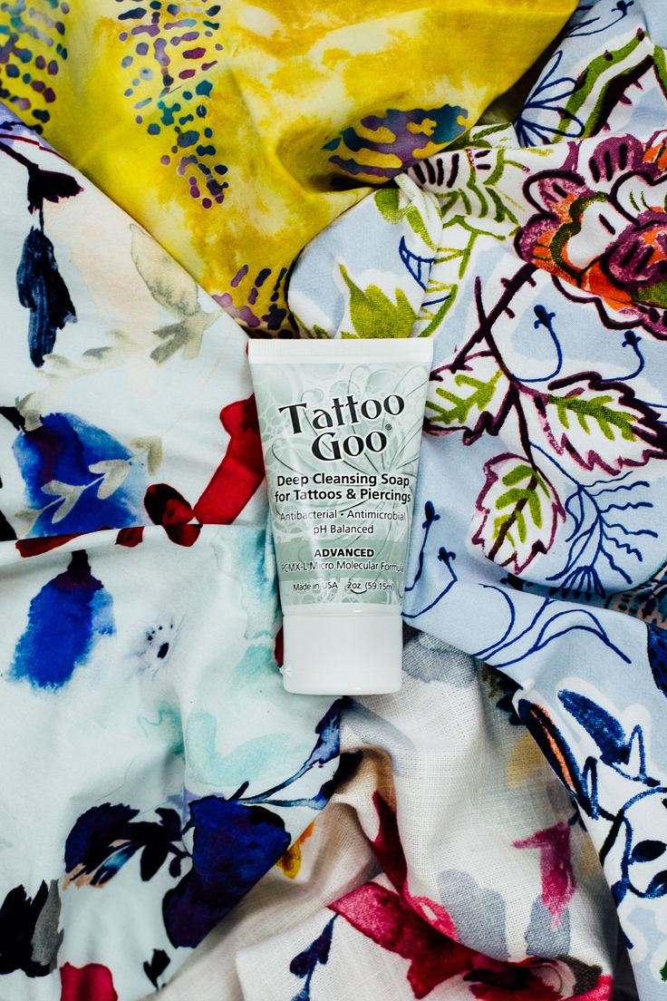 Our Tattoo Goo Deep Cleansing Soap helps deep clean new ink while keeping color intact.