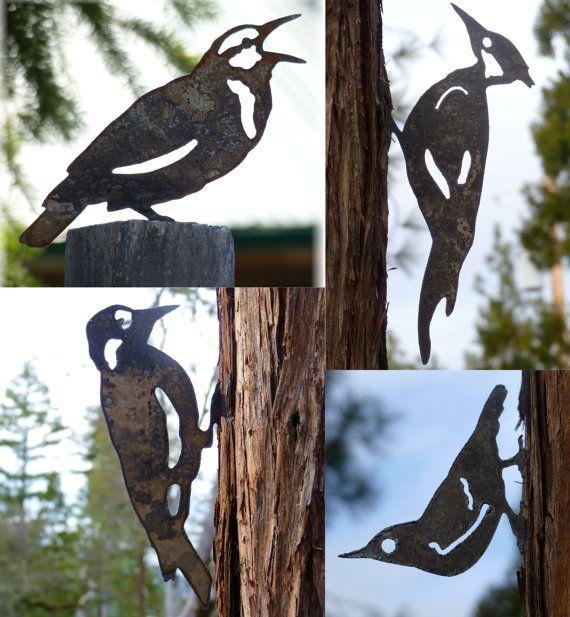 4 Bird Pack Pileated Woodpecker Meadowlark Nuthatch by writedesign, $34.95
