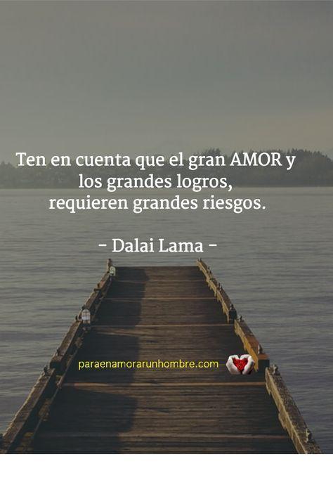 En el amor existe un gran riesgo de ser desdichado. Es el precio que debemos pagar para conseguir la felicidad... #pensamientosparaenamorados #frasesdelavida