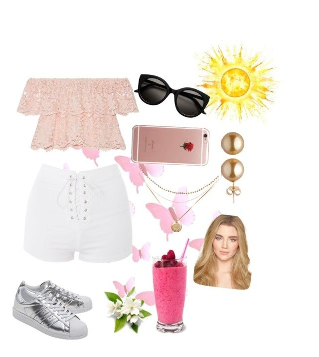"""""""Untitled #53"""" by ssimuhina on Polyvore featuring Miguelina, Topshop, adidas Originals and ETUÍ"""