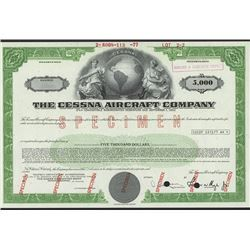 Cessna Aircraft Co., Specimen Bond. - Archives International Auctions