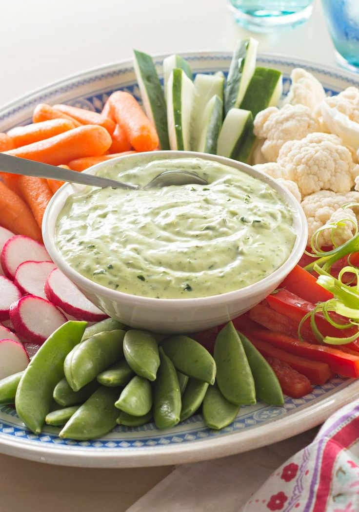 Green Goddess Dip with Spring Vegetables — This easy, creamy Green ...