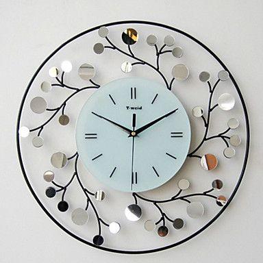 17 H Estilo Moderno Mute metal reloj de pared - USD $ 69.99