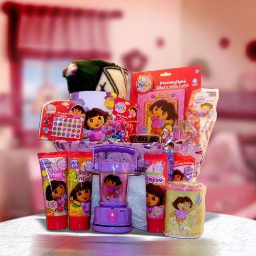 BESTSELLER! Get Well, Birthday Gift Baskets Dora the Explorer Ultimate Gift Basket for Kids Under 10 $85.99
