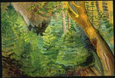 Emily Carr,  Young Pines and Old Maple Fine Art Reproduction Oil Painting