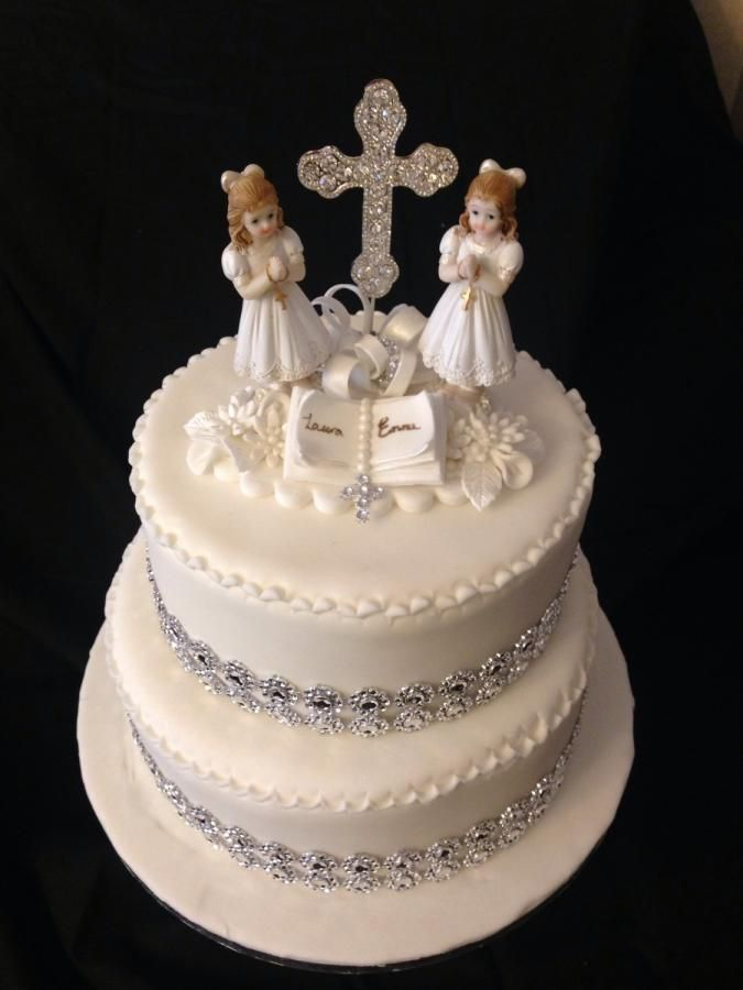 1st Holy Communion Cake - Cake by Emmsicedgems