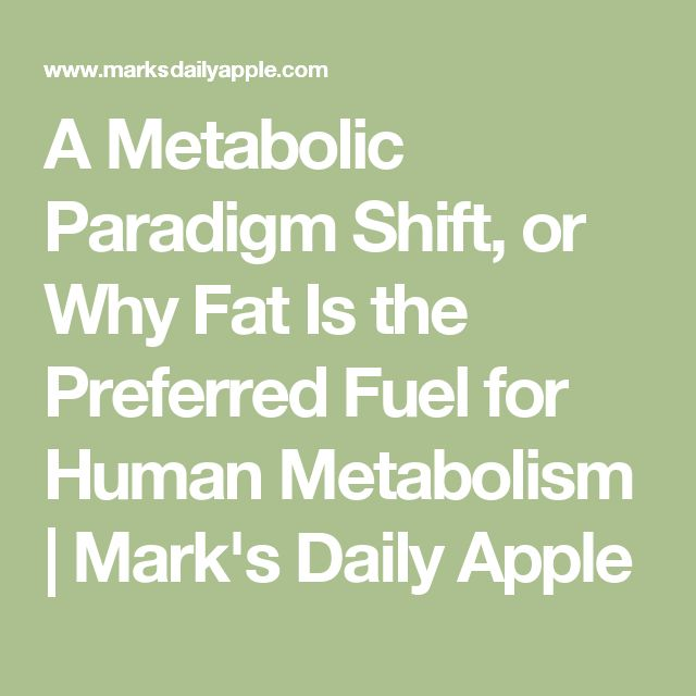 A Metabolic Paradigm Shift, or Why Fat Is the Preferred Fuel for Human Metabolism | Mark's Daily Apple