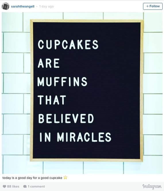 Yes yes and YES! Cupcake wisdom via Chip and Joanna Gaines's new Magnolia Baker