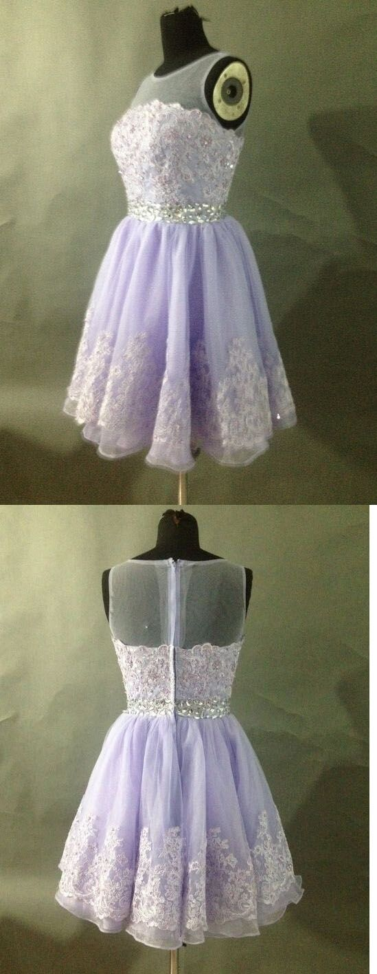 Lavender Homecoming Dress,Lace Homecoming Dresses,Short Prom Gown,Homecoming Gowns,Homecoming Dress
