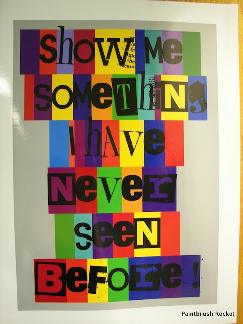 This would be such a great sign in an art room or near your art board.  CREATE SOMETHING NEW!