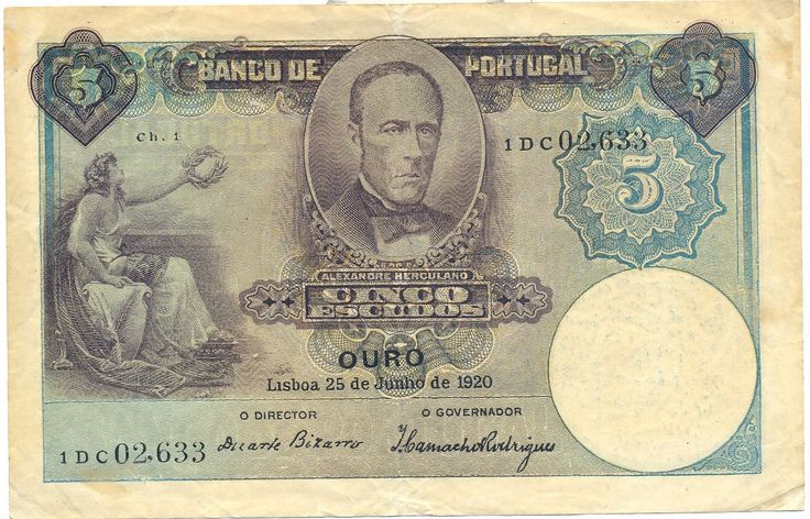 portugal currency | Portugal currency money 5 Escudos banknote