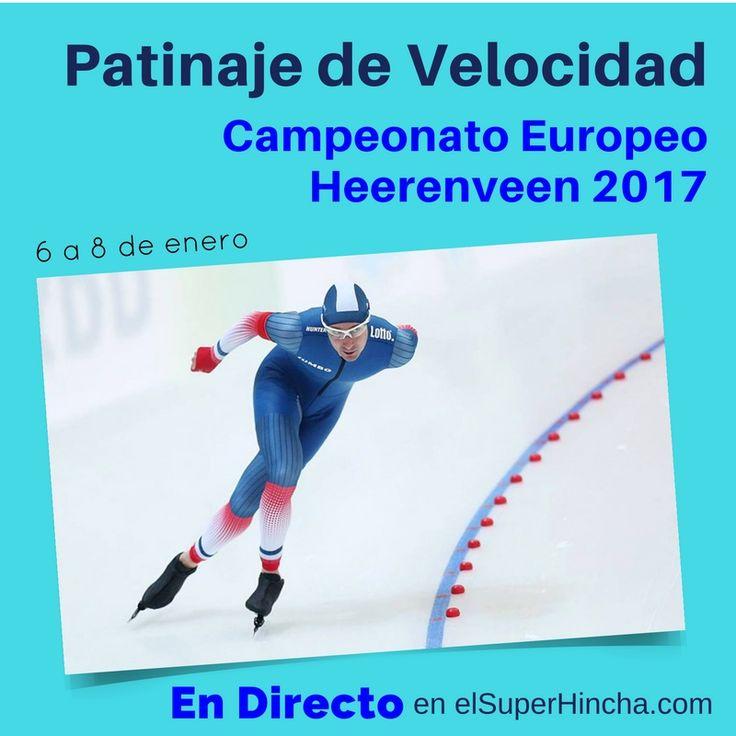 #PatinajeDeVelocidad En Hielo ----------------  Del 6 al 8 de enero, Campeonato Europeo de Patinaje de Velocidad Heerenveen 2017. Consulta horarios y síguelo EN DIRECTO haciendo clic sobre  el pin