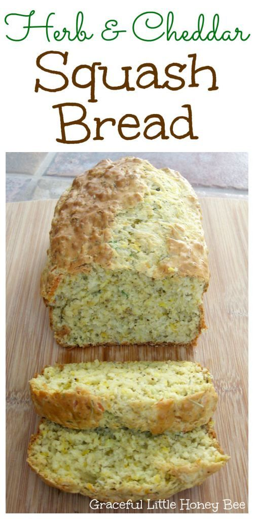 Herb and Cheddar Squash Quick Bread Recipe on gracefullittlehoneybee.com