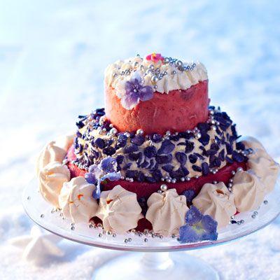 Vacherin glacé et violettes cristallisées