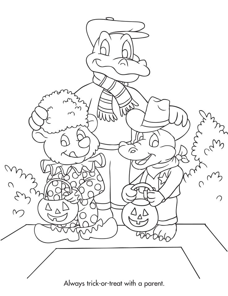Halloween safety coloring page all about playing it for Halloween safety coloring pages free