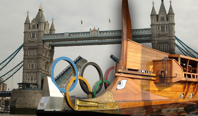 "The Organising Committee of Olympic Games in London eventually canceled its participation trireme ""Olympias"" copy of the battleship  of Salamis, in the opening ceremony.    Read more: http://www.architecture-balar.com/2012/04/greek-triremeolympias-excluding-on.html#ixzz1sZbOaGIr"