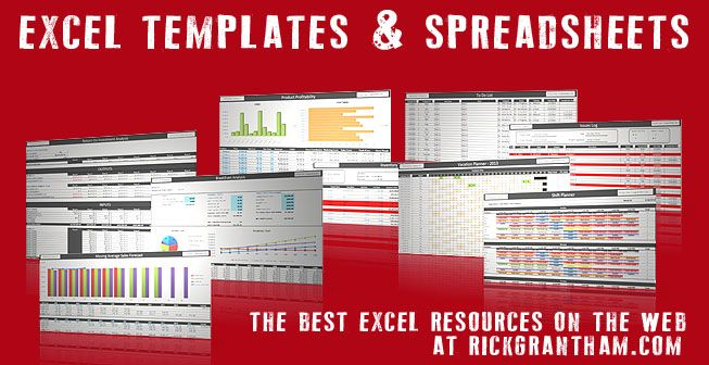 Excel Spreadsheets & Templates   Small Business Tips by Rick Grantham