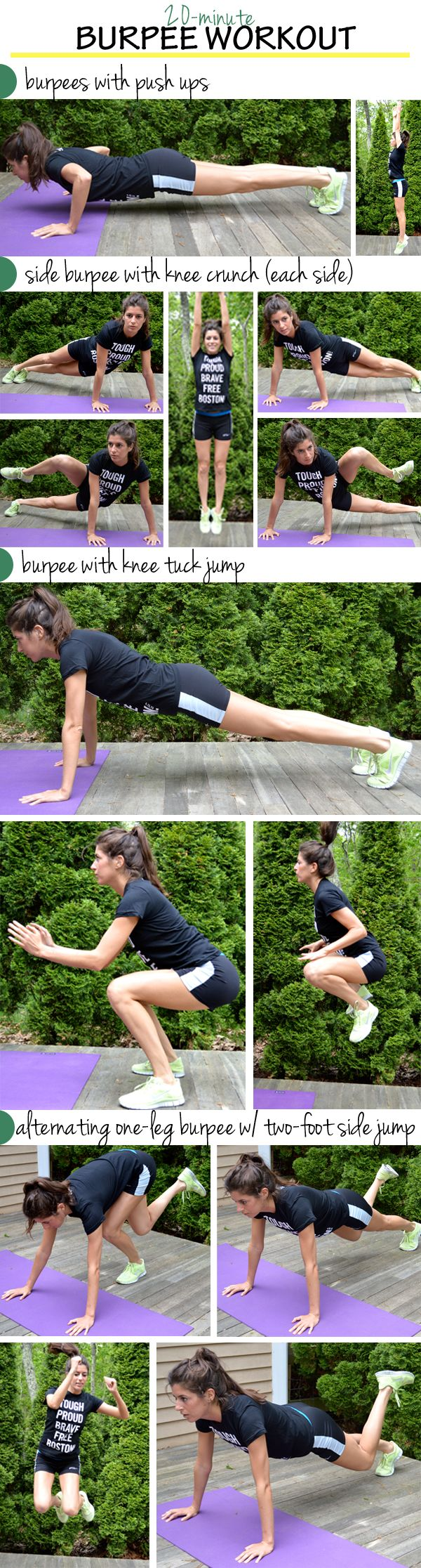 12 (Sweaty) Burpee Workouts like this 20 minute circuit workout from Pumps and Iron. #FitFluential