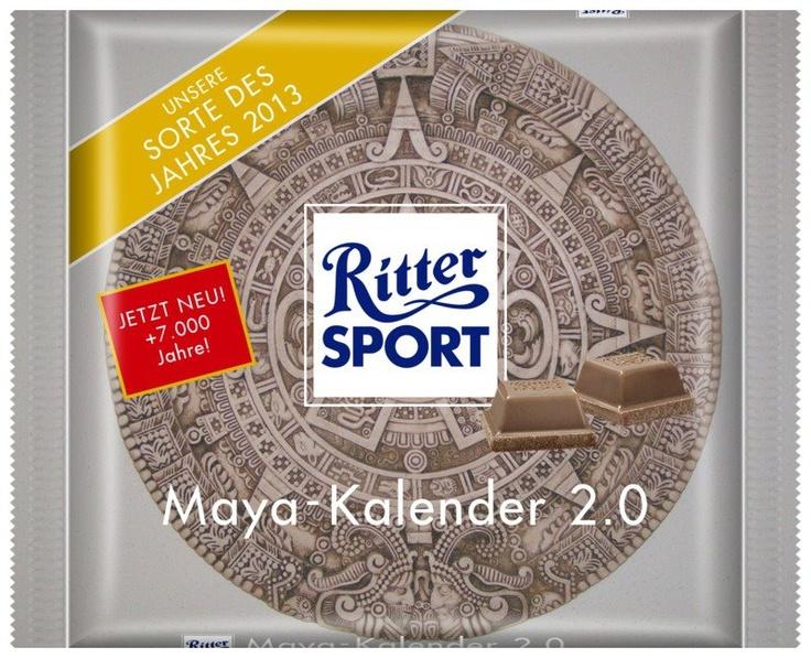 RITTER SPORT Fake Schokolade Maya-Kalender 2.0