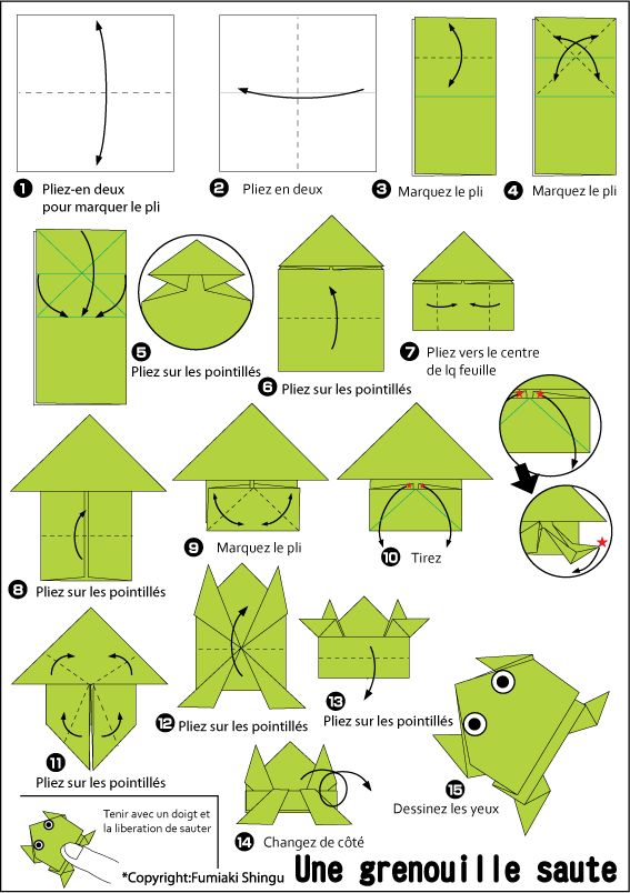 saut de grenouille origami pinterest origami. Black Bedroom Furniture Sets. Home Design Ideas