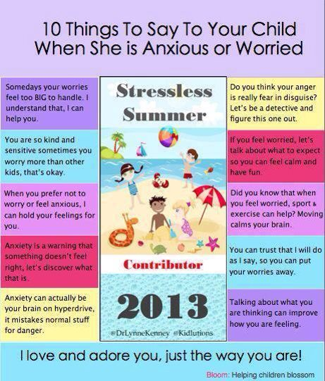 10 Things to Say to Your Anxious Child