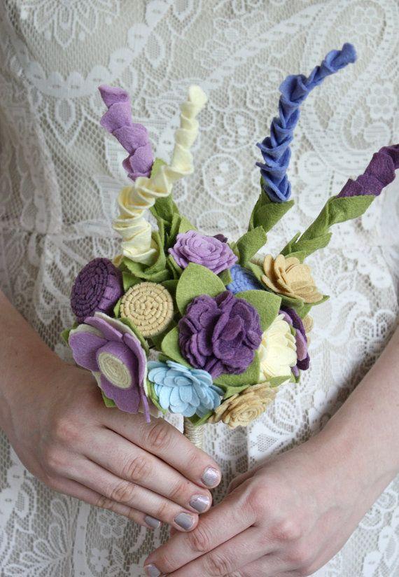 Felt Bouquet Wedding Bouquet Alternative Bouquet