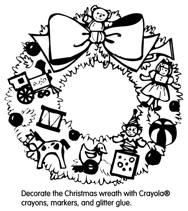 Crayola Christmas Coloring Pages