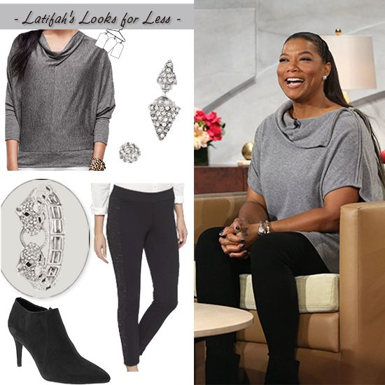 Cowl neck and booties! | My Look for Less - Monday, November 3, 2014 | Queen Latifah