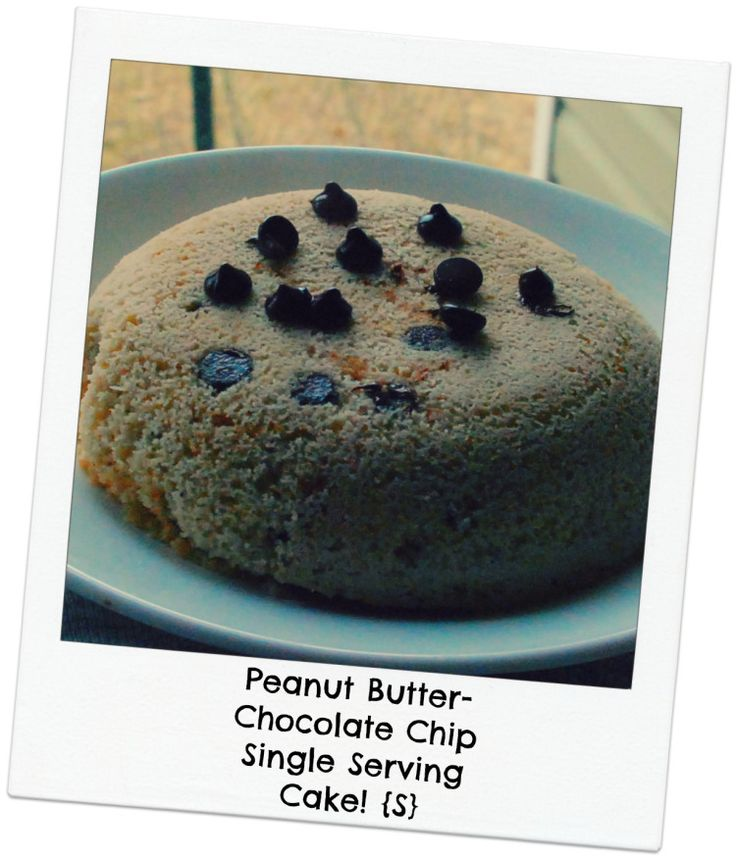 Peanut Butter-Chocolate Chip Single Serving Cake!  {S} Low carb, Low glycemic, THM dessert!