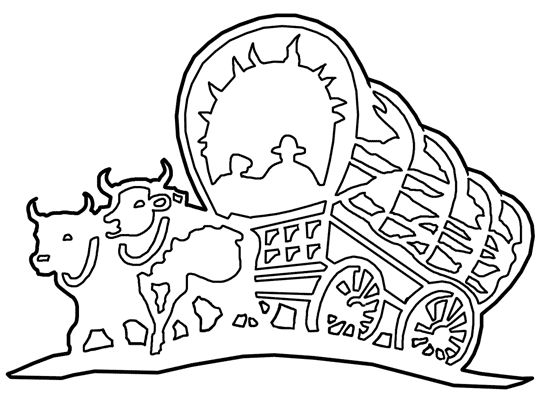 wagon train coloring pages - photo#13