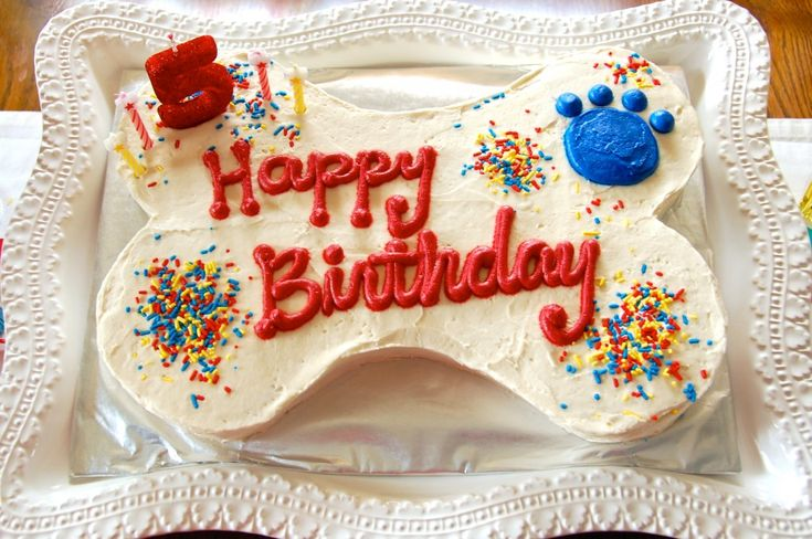 Clifford dog bone birthday cake