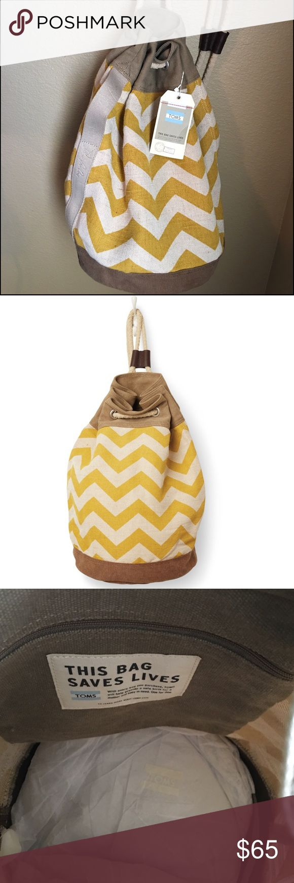 SALE TOMS Bag NWT Toms Chevron Drawstring Bag Toms Bags