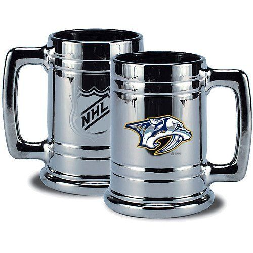 NHL Nashville Predators Chrome Stein by Mustang. Save 39 Off!. $13.51. Collect your teams Championship Chrome Stein. Plated in silver and decorated with your teams embossed emblem on one side and the official NHL shield on the other.