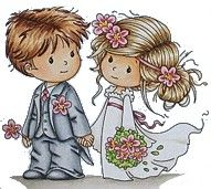 Dibujos. Clipart. Digi stamp - Wedding - by Sylvia Zet