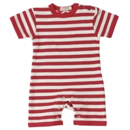 Romper and Sunhat Set - by organics for kids beautiful Red Stripe at Herbert and Stella.