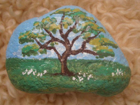 Painted Rocks - Trees