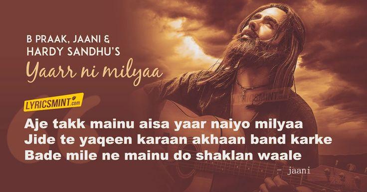 Yaar Ni Milya Lyrics - Hardy Sandhu