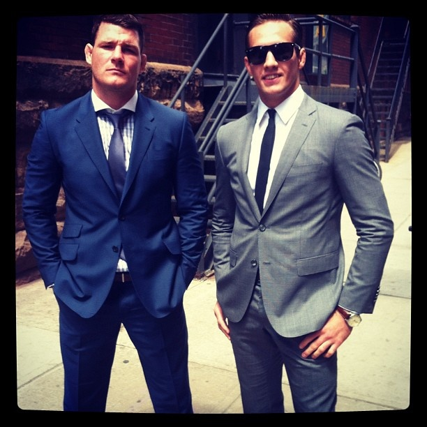 Michael Bisping and Rory McDonald being all GQ ready... who says chicks don't dig MMA???